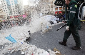 Group Pillow Fight Takes Place In Manhattan's Union Square